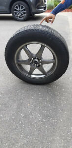 Ford Mustang Winter Tires on Alloy Rims