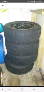 Winter Tires With Rims - 195 / 55 R15 85T