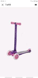 Sequin Mini Flex Adjustable Tilt Scooter With LED Wheels