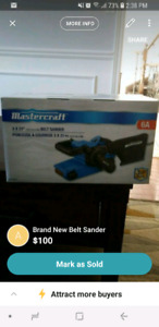 Brand New Mastercraft Belt Sander