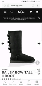 Ugg tall bailey bow boots in black
