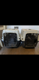 2 pet carriers