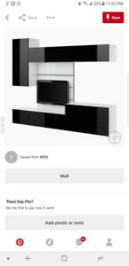 Ikea Besta glass TV wall mount $90