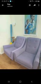 Two stylish lounge chairs