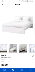 IKEA MALM BED KING SIZE WITH MATTRESS
