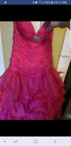 Prom dress worn once size 12 with corsette back so can go much s