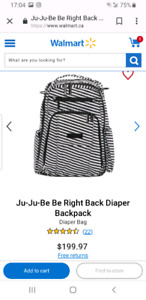 Brand new with tag jujube be right back diaper backpack