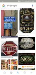 Buying antique signs. Anything old