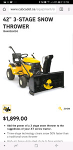 3 Stage Snow Thrower