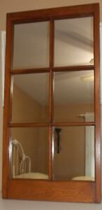 FOR SALE - - MOVING - - - Windowpane Wood Framed Wall Mirror