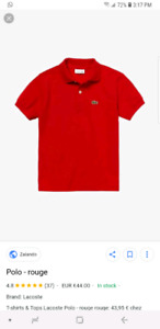 Lacoste polo - like new - size 9 black, yellow, red - 50 each