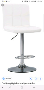 Wanting ONE white bar stool chair that adjusts