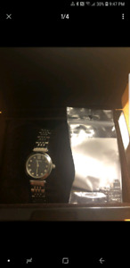 Bulova diamond and mother of pearl watch