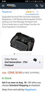 BNEW PS4 KEYBOARD