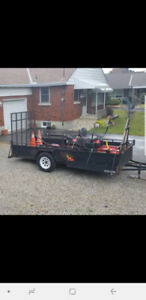 Landscaping utility trailer 6x12