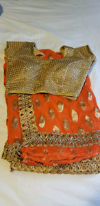 Various Sarees, half ready made and other