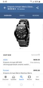 Armani ceramic watch model AR1400