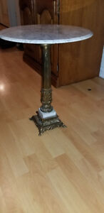 ** ANTIQUE MARBLE BRASS TABLE ** livraison/delivery ***