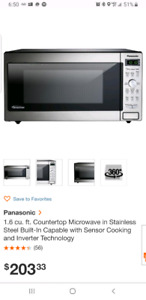 Panasonic Microwave over 50% cheaper than home depot