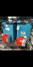 Supply and fit oil fired boilers and burner vgc with warranty