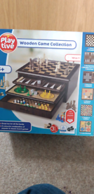 6 in 1 wooden Game set New