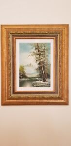 Toile paysage rocheuse