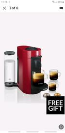Nespresso Magimix Nespresso Vertuo LE Coffee Machine- Red
