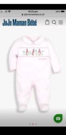 Brand New JoJo maman Bebe Peter Rabbit Sleepsuit babygrow 3-6mth