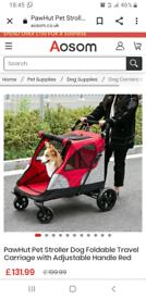 Dog pram..pawhut dog stroller