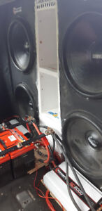 2 18 inch monster subwoofers 2 8k amps