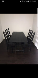 Ikea Dining Table Set (Table + 4 Chairs) - Brand new condition