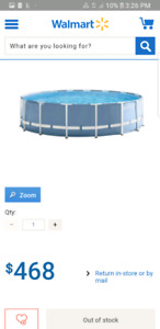 Large swimming pool and large trampoline
