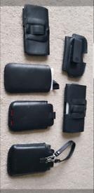 Mobile Phones Pocket Leather Cases Black