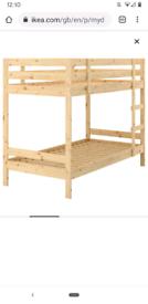 IKEA pine children's bunk bed