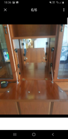 Wooden teak display cabinet