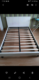 White Double bed frame