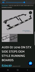 Audi Q5 Q7 side steps oem running board brand new fit all models years