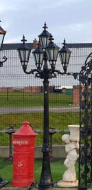 8ft tall 5 head lamp cast aluminium Garden driveway light