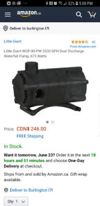 Used submersible pond pump