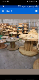 Wooden cable drums reels spools
