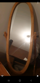 Large standing mirror