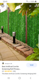Brand New 3 x Artificial Conifer Screening Hedge