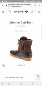 Sperry saltwater duck boots kids