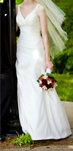 Classic ivory wedding dress (size 6)--dry cleaned & ready to go