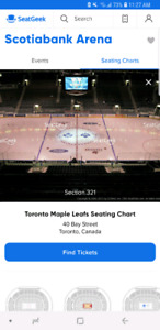 Two Leafs/Sabres Tickets for Tonight!