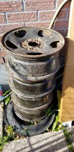 "set of GM 16"" Steel rims 6x127"