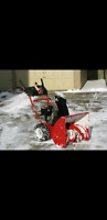 Snow removal, snow blowing