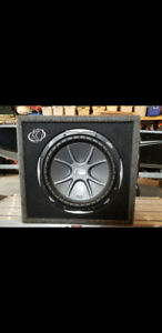 For sale a 12 inch  kicker subwoofer in box  like new
