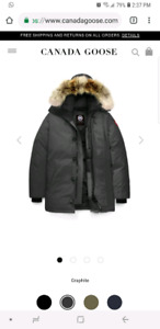 Canada goose chateau parka, graphite, size M like new w/ receipt
