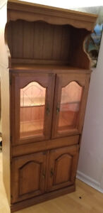 ** ANTIQUE SOLID WOOD BUFFET with table ** MINT CONDITION **